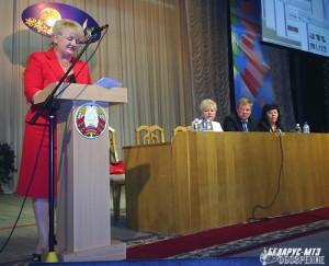 За трибуной Любовь Дейхина, в президиуме Валентина Осмоловская, Андрей Галь, Тамара Щербачевич.
