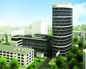 Проект здания художественно-реставрационных мастерских с административными помещениями по улице Андреевской.