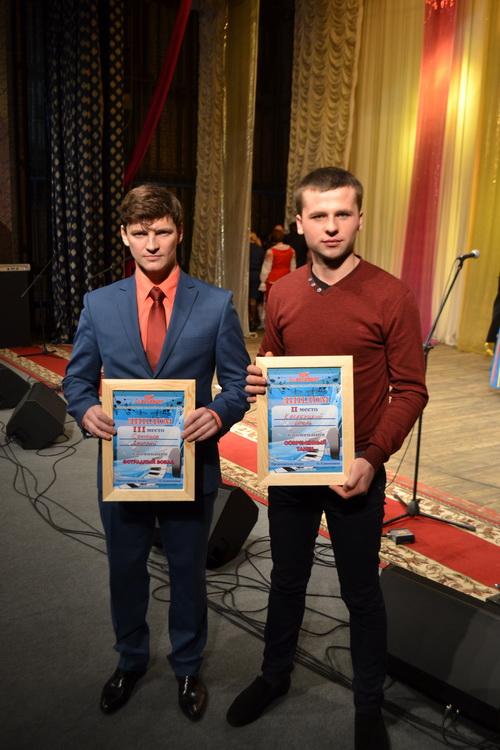 Финалисты конкурса «Пой, Беларус!» 2015 года — представители УКЭР № 1 Дмитрий Сенюков и Игорь Касабуцкий.