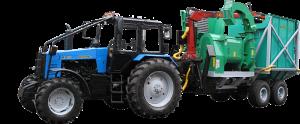 Машина рубильная с гидро-манипулятором ГМ-50-01, с бункером-накопителем МТЗ МР-25