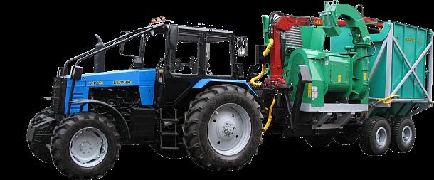 Машина рубильная с гидро-манипулятором ГМ-50-01, с бункером-накопителем